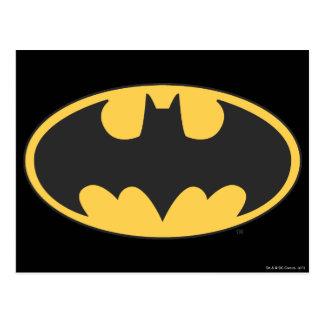 Ovales Logo Batman-Symbol-| Postkarte