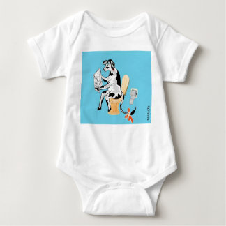 Overall Kuh macht pupu Baby Strampler