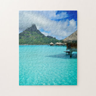 Overwater Bungalowe Bora Bora im Puzzle