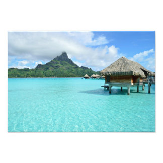 Overwater Erholungsort auf Bora Bora Fotodruck