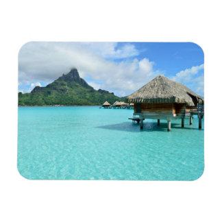 Overwater Erholungsort auf Bora Bora rechteckigem Magnet