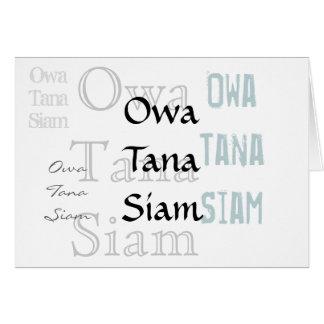 Owa Tana Siam -- Eine Entschuldigung Grußkarte