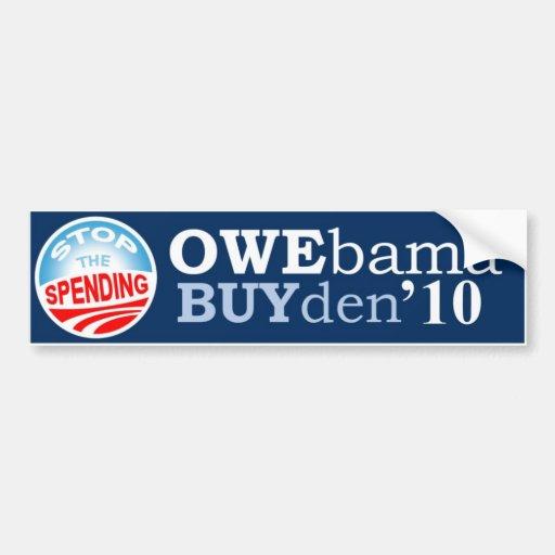 OWEbama BUYden Halt die Ausgabe Autosticker