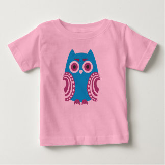 Owl printed on Baby-Shirt / Eule auf Baby-Shirt Baby T-shirt