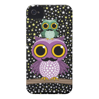 owling Eulen des Schnurrbartes iPhone 4 Cover
