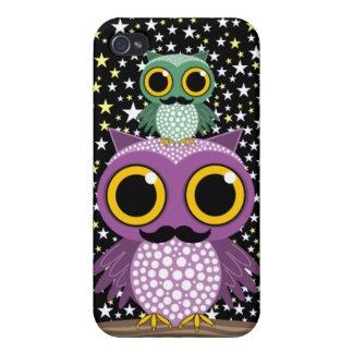 owling Eulen des Schnurrbartes Etui Fürs iPhone 4