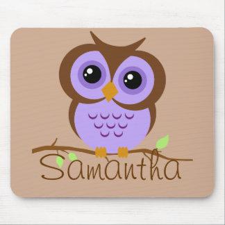Owly lila personalisiertes Mousepad