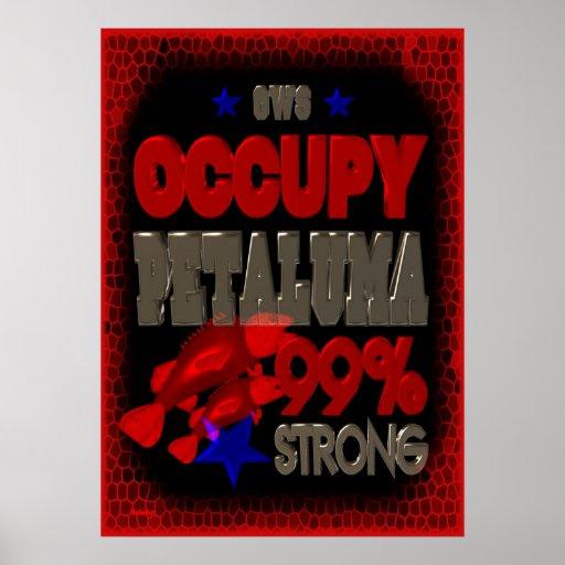 OWS besetzen Petaluma 99percent Protestzeichen Plakatdruck