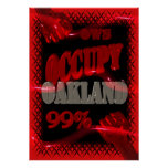 OWS Protest BESETZEN Oakland Wall Street starkes 9 Posterdrucke
