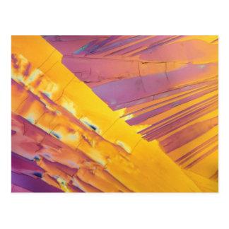 Oxalische Säure-Kristalle Postkarte