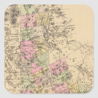 Oxford County, Maine Quadrat-Aufkleber