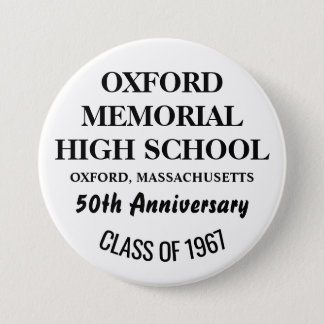 OXFORD HOHES 1967 RUNDER BUTTON 7,6 CM