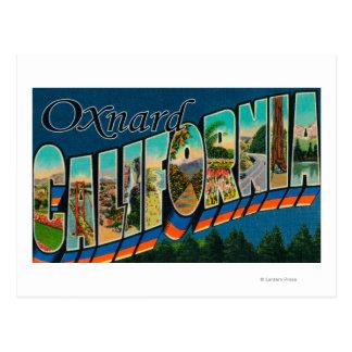 Oxnard, Kalifornien - große Buchstabe-Szenen Postkarte