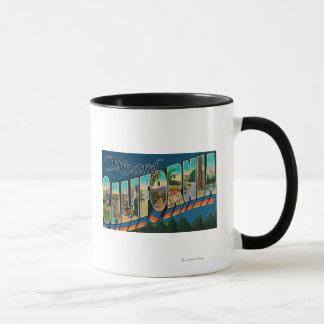 Oxnard, Kalifornien - große Buchstabe-Szenen Tasse