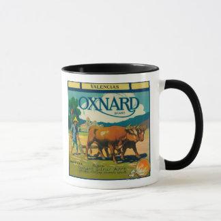 Oxnard orange LabelOxnard, CA Tasse