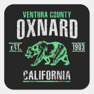 Oxnard Quadratischer Aufkleber