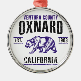Oxnard Rundes Silberfarbenes Ornament
