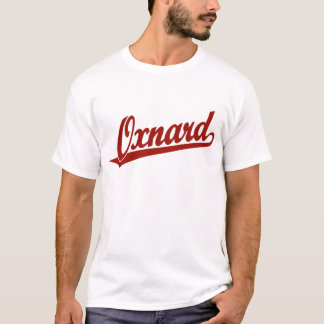 Oxnard Skriptlogo im Rot T-Shirt
