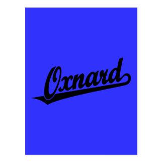 Oxnard Skriptlogo im Schwarzen Postkarte
