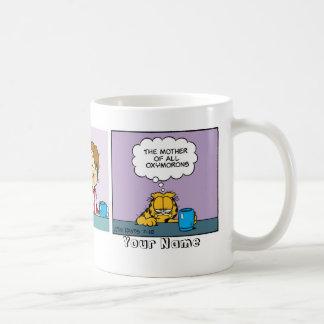 """Oxymorons-"" Garfield-Comic-Streifen Kaffeetasse"