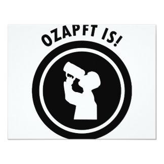 ozapftis bayerisches Oktoberfest Symbol Personalisierte Einladungskarte