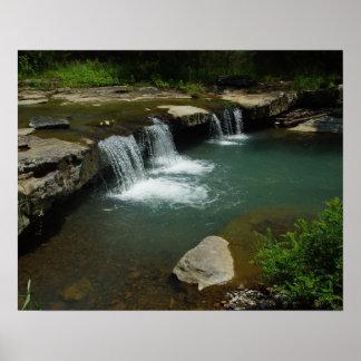 Ozarks, Frühlings-Wasserfall Poster