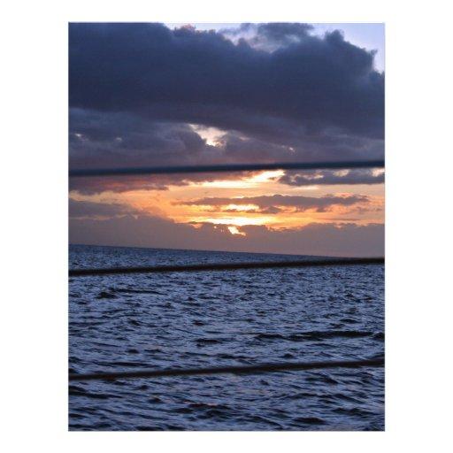 Ozean am Sonnenuntergang Custom Flyer