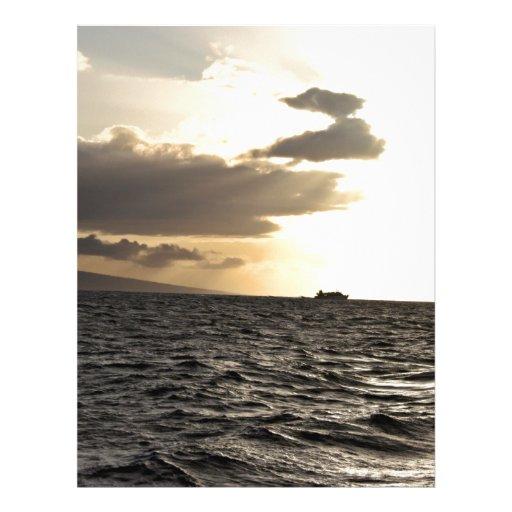 Ozean am Sonnenuntergang Flyer