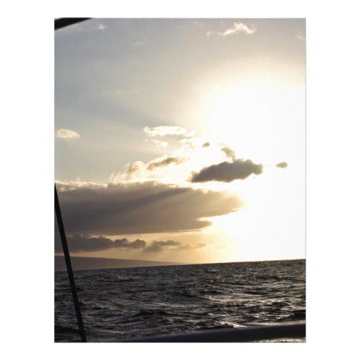 Ozean am Sonnenuntergang Individuelle Flyer