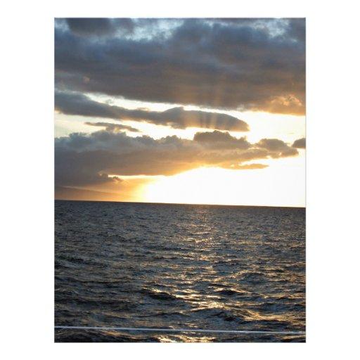 Ozean am Sonnenuntergang Vollfarbige Flyer