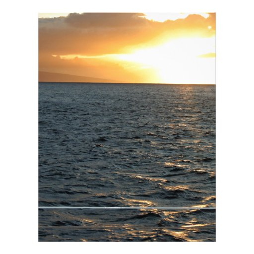 Ozean am Sonnenuntergang Bedruckte Flyer