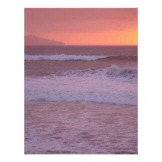 Ozean am Sonnenuntergang Flyerdruck