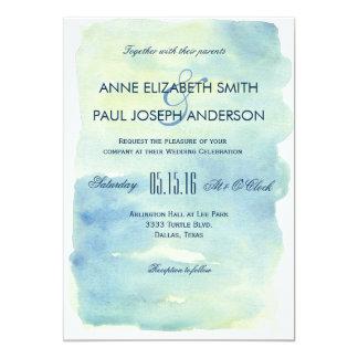 Ozean-Aquarell-Hochzeitseinladung 12,7 X 17,8 Cm Einladungskarte