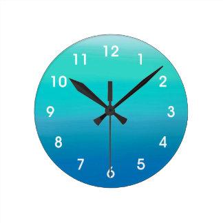 Ozean-Aquarell-Wanduhr Uhr
