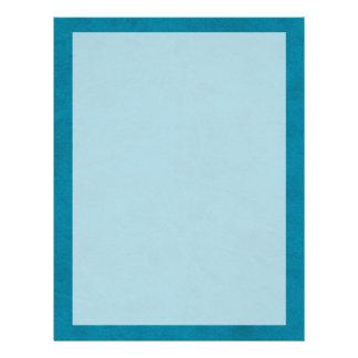 Ozean-Blau-Farbsamt-kundenspezifisches 21,6 X 27,9 Cm Flyer