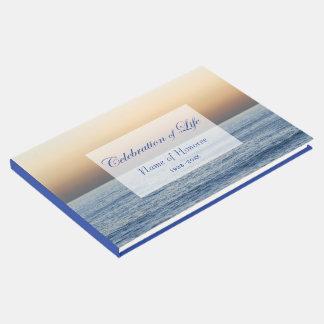 Ozean-Blau-Feier des Leben-Denkmals Gästebuch