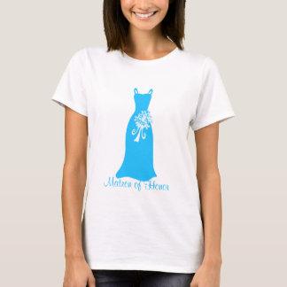 Ozean-Blau-Matrone des Ehrenkleides T-Shirt