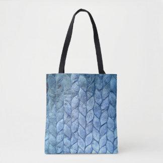 Ozean-Blau-Muscheln Tasche