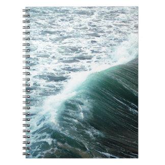 Ozean-Blau Notizblock