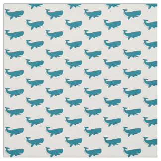 Ozean-Blauwal deckte Gewebe mit Ziegeln Stoff