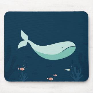 Ozean-Blauwal-Mausunterlage Mousepads