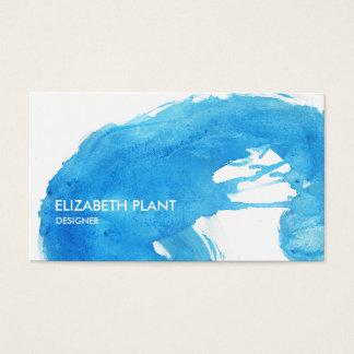 Ozean-Blauwatercolor-Spritzer Visitenkarte