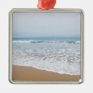 Ozean-Brandung Südkalifornien Silbernes Ornament