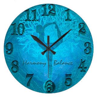 Ozean-Brisen-Yoga Yin Yang Baum Uhren