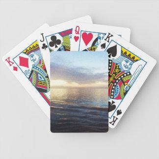 Ozean-Dämmerung Bicycle Spielkarten