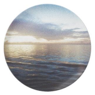 Ozean-Dämmerung Melaminteller
