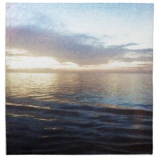 Ozean-Dämmerung Stoffserviette
