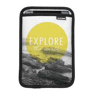 Ozean | erforschen das Weltzitat Sleeve Für iPad Mini