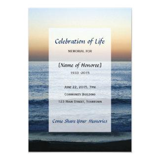 Ozean-Erinnerungsfeier der Lebeneinladung Karte