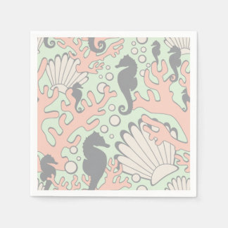 Ozean-Garten-Pastellcocktail-Servietten Papierservietten